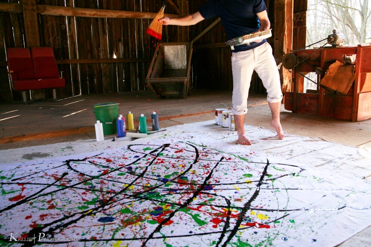 Jackson Pollock Photoshoot