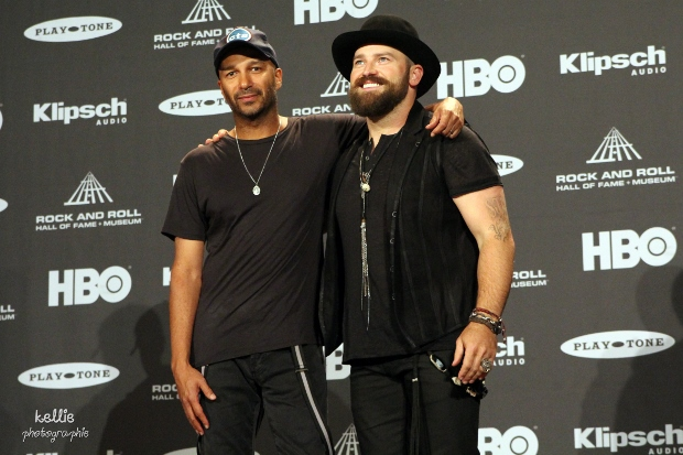Rock and Roll Hall of Fame Inductions 2015 - Tom Morello and Zac Brown